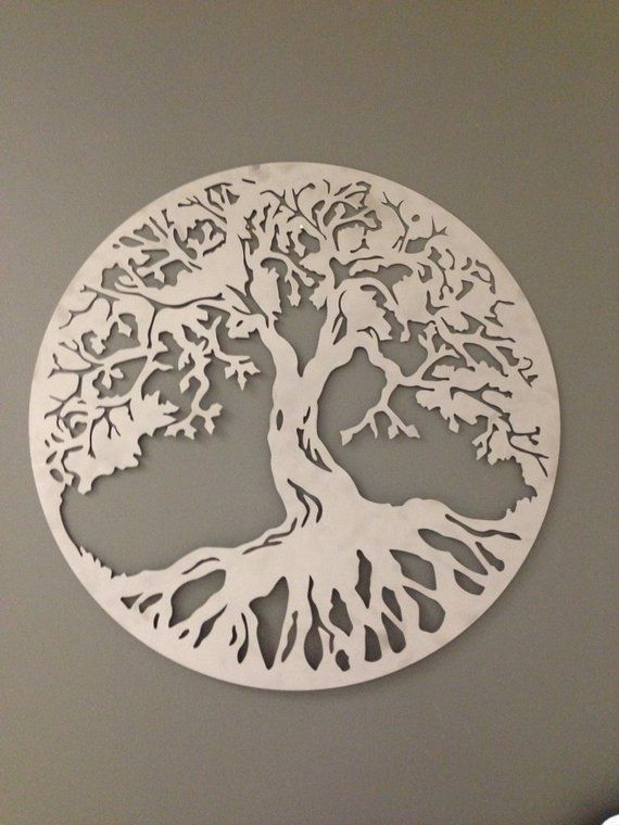 Round Tree Of Life Industrial Metal Wall Art In Caramel Copper Etsy Metal Tree Wall Art Tree Wall Art Metal Wall Art