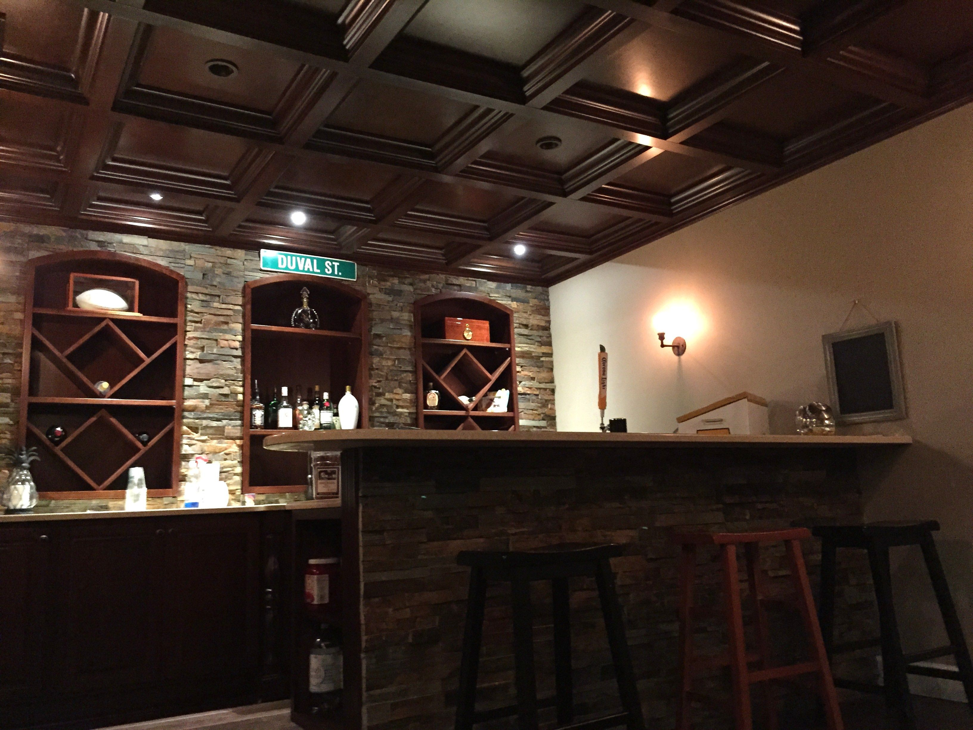 Basement Bar coffered Ceiling Coffered Ceilings