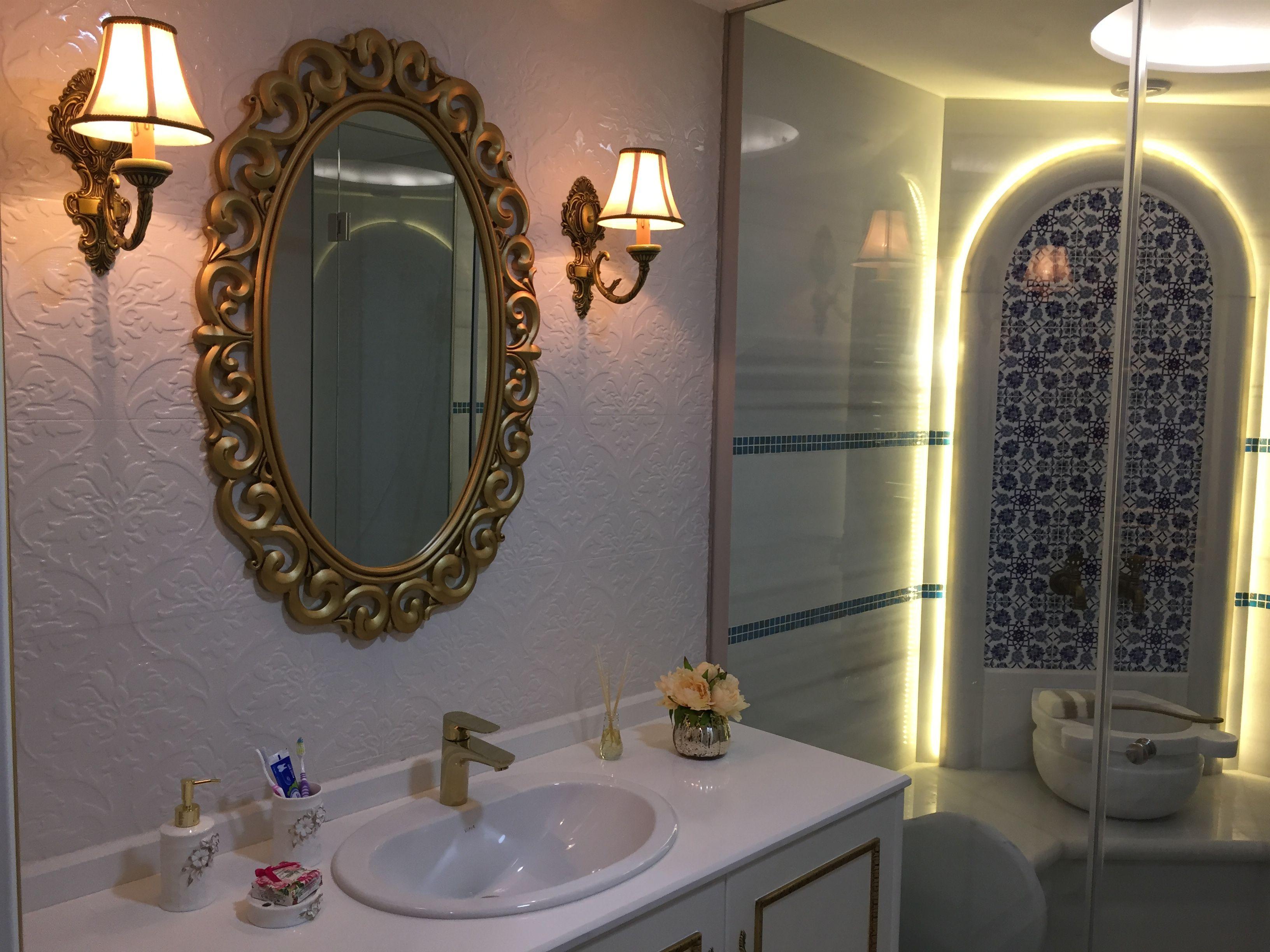 Modern mor renkli banyo dekorasyonu ev dekorasyonu dizayn -  Klasik Banyo Banyo Dekorasyonu Banyo Tasar M K Zel Tasar M Banyo Tezgah Banyo Dolab Ferah Beyaz Banyo Du Akabin Du Banyo Deck Ah Ap Du