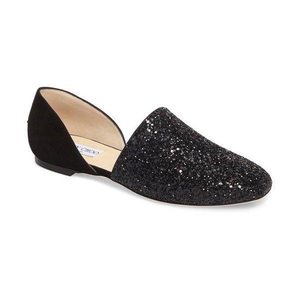cfaa619bb417 Women s Jimmy Choo Globe Glitter Flat (7.778.595 IDR) ❤ liked on ...