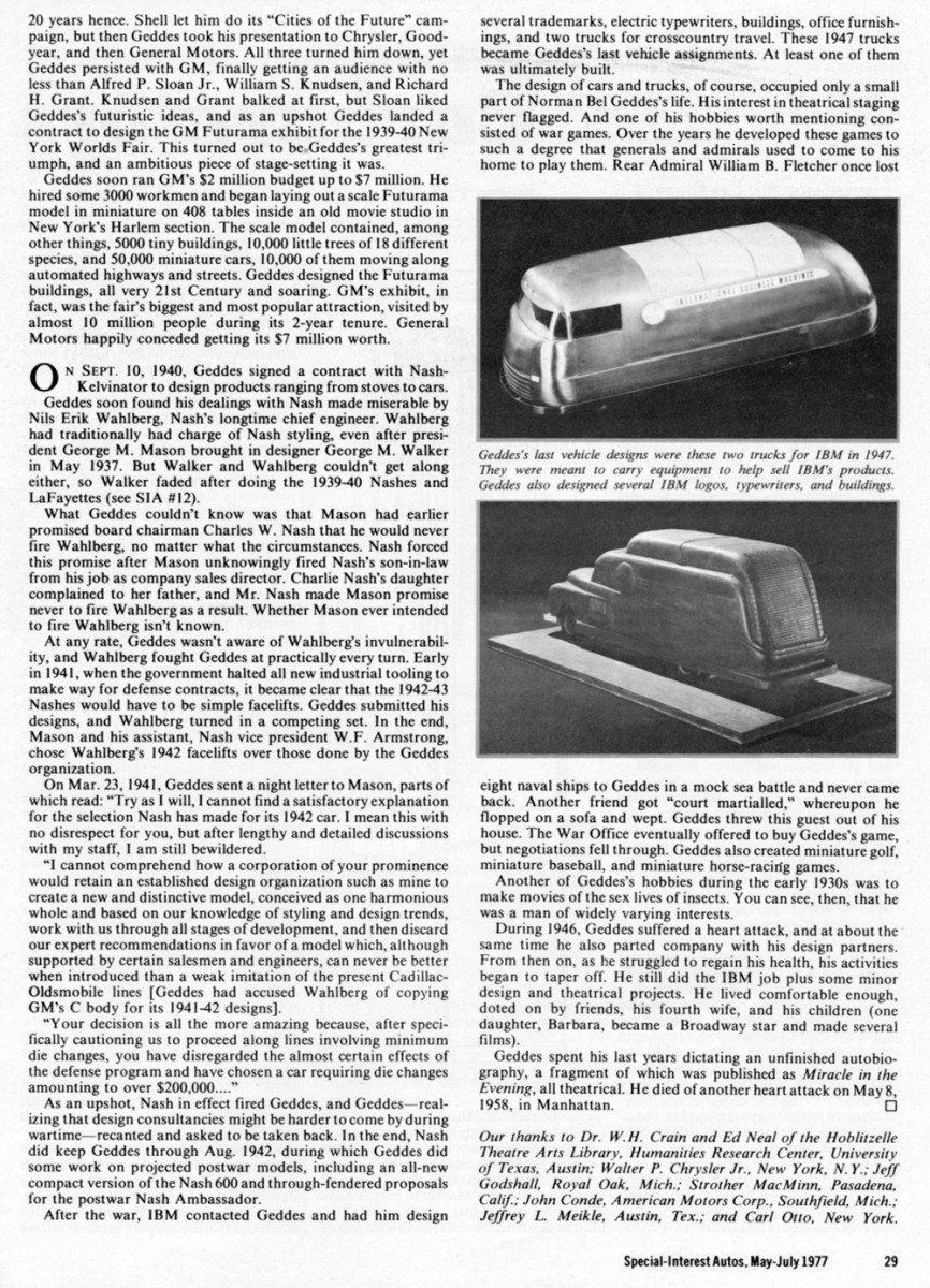 Gemütlich Norman Bel Geddes Car Fotos - Die Schlafzimmerideen ...