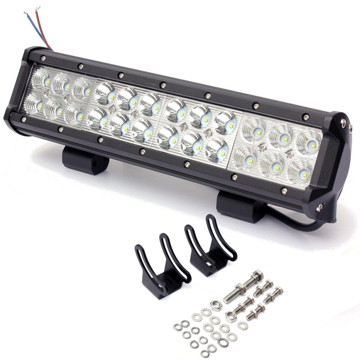 12 Inch 72W Off Road LED Work Light Bar Combo Beam Lamp