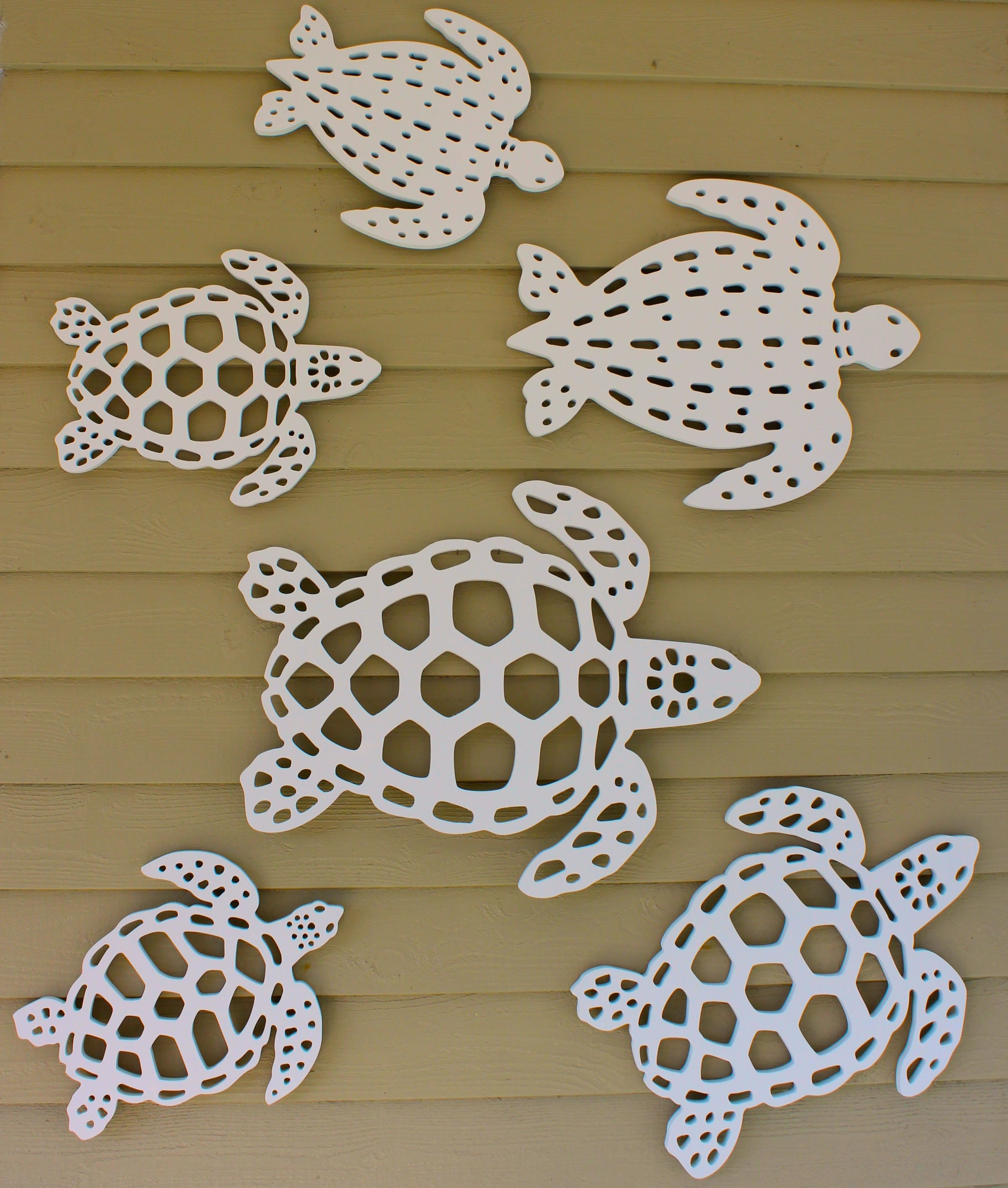 Sea Turtle Coastal Wall Decor Made From Premium Pvc That Has A 30 Year Life