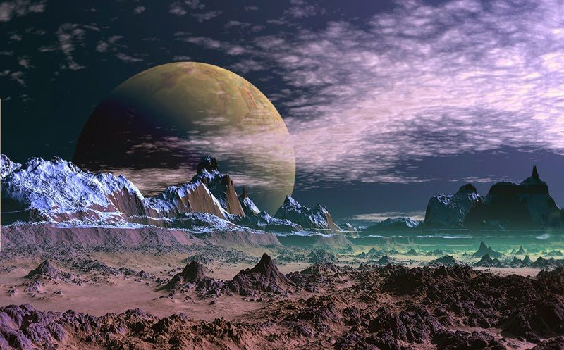 sci fi landscape alien planets - photo #41