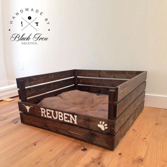 Wood Dog Bed Pallet Cat Bed Flippable Pet by ...