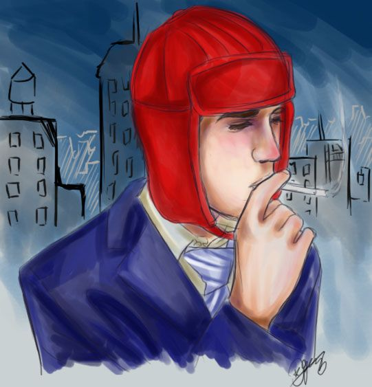 My friend drew me so well. Man, that red hunting hat, I still ...