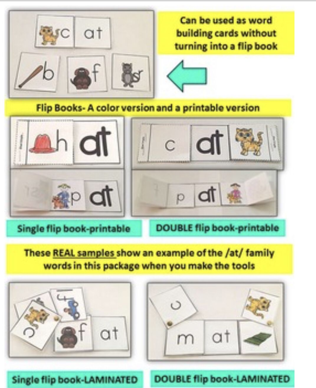 Word Family Word Work Short A At Word Family Literacy