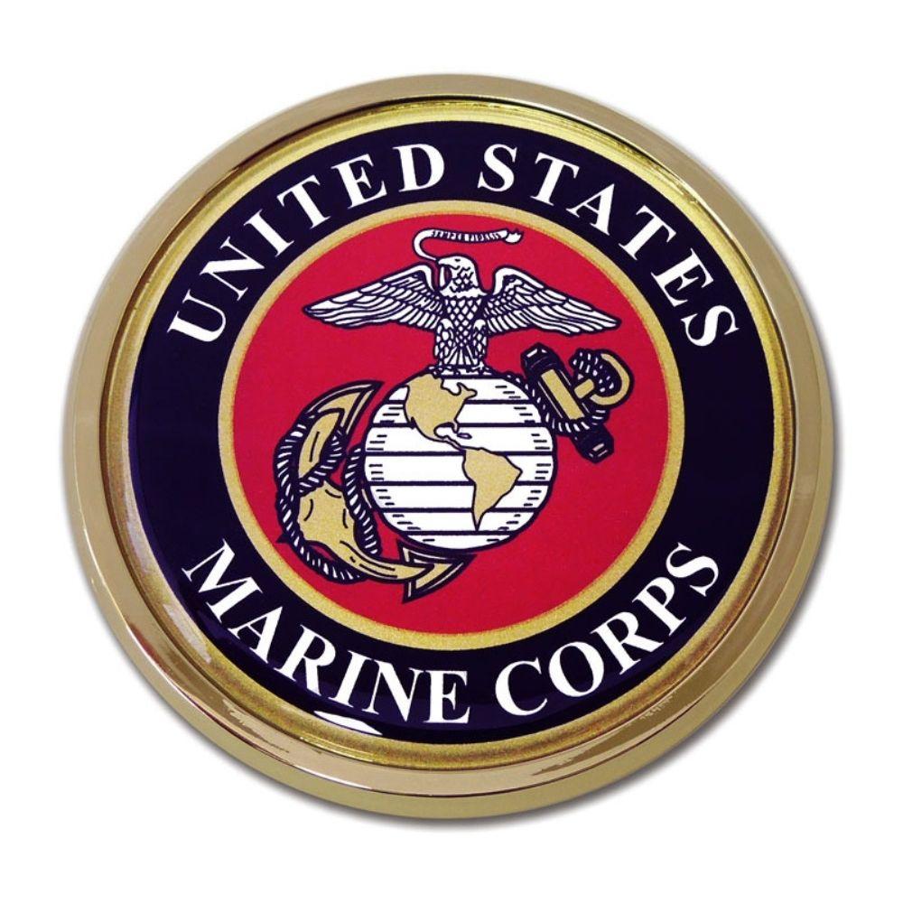 CHROME US Marine Corps American Flag Vinyl Decal StickersMilitary Decals