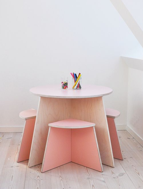 Kids Room   Furniture By Small Design   Kids Pink Table And Chairs;