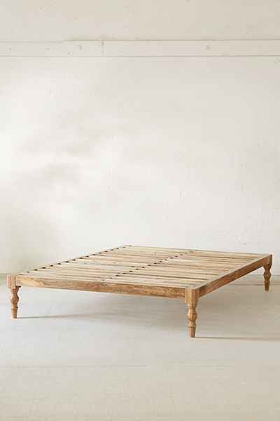 brave wooden boho bed frame desk