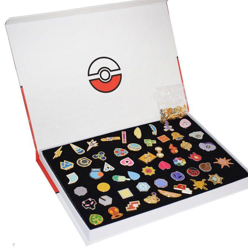 Pokemon Gym Badges - Set of 52 + Box