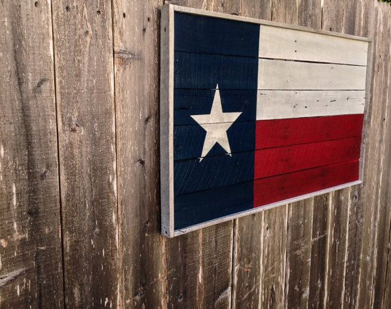 Wooden Texas Flag Texas Wall Decor Large By Shineboxprimitives
