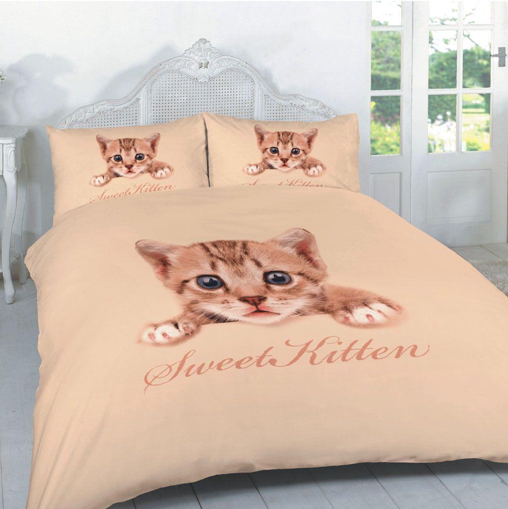 3d Kitten Printed Duvet Quilt Bedding Set Linens Range Duvet Cover Sets Animal Print Bedding Quilt Sets Bedding