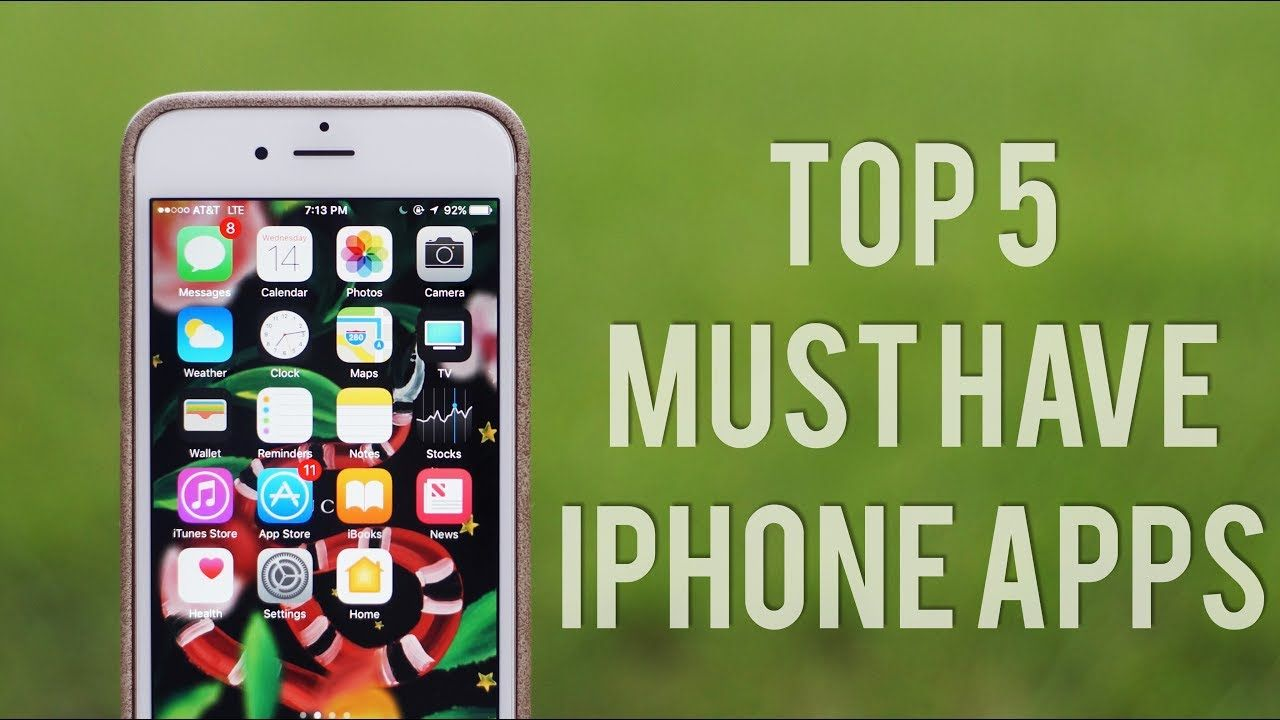 Top 5 Must Have iPhone Apps Allthingsjosh YouTube