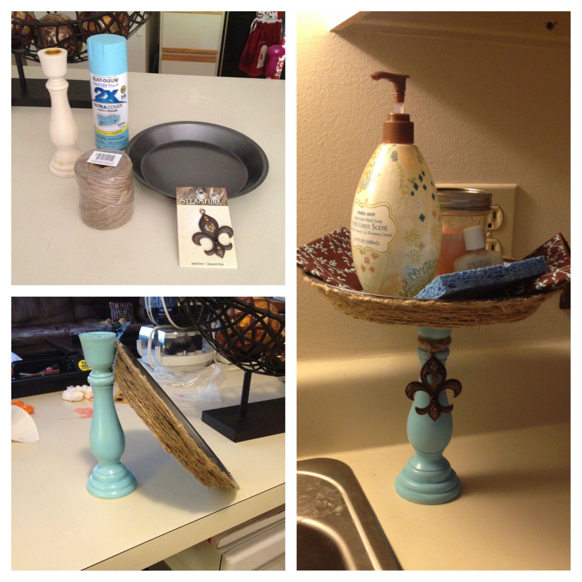 DIY sink caddy Kitchen sink decor, Kitchen design diy
