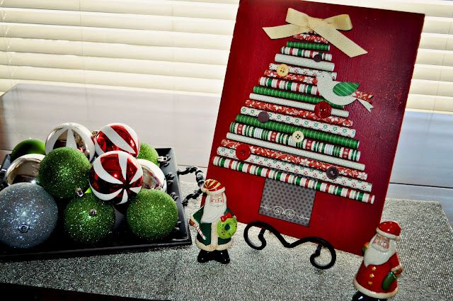 Rolled Paper Christmas Tree - what a simple idea! (\