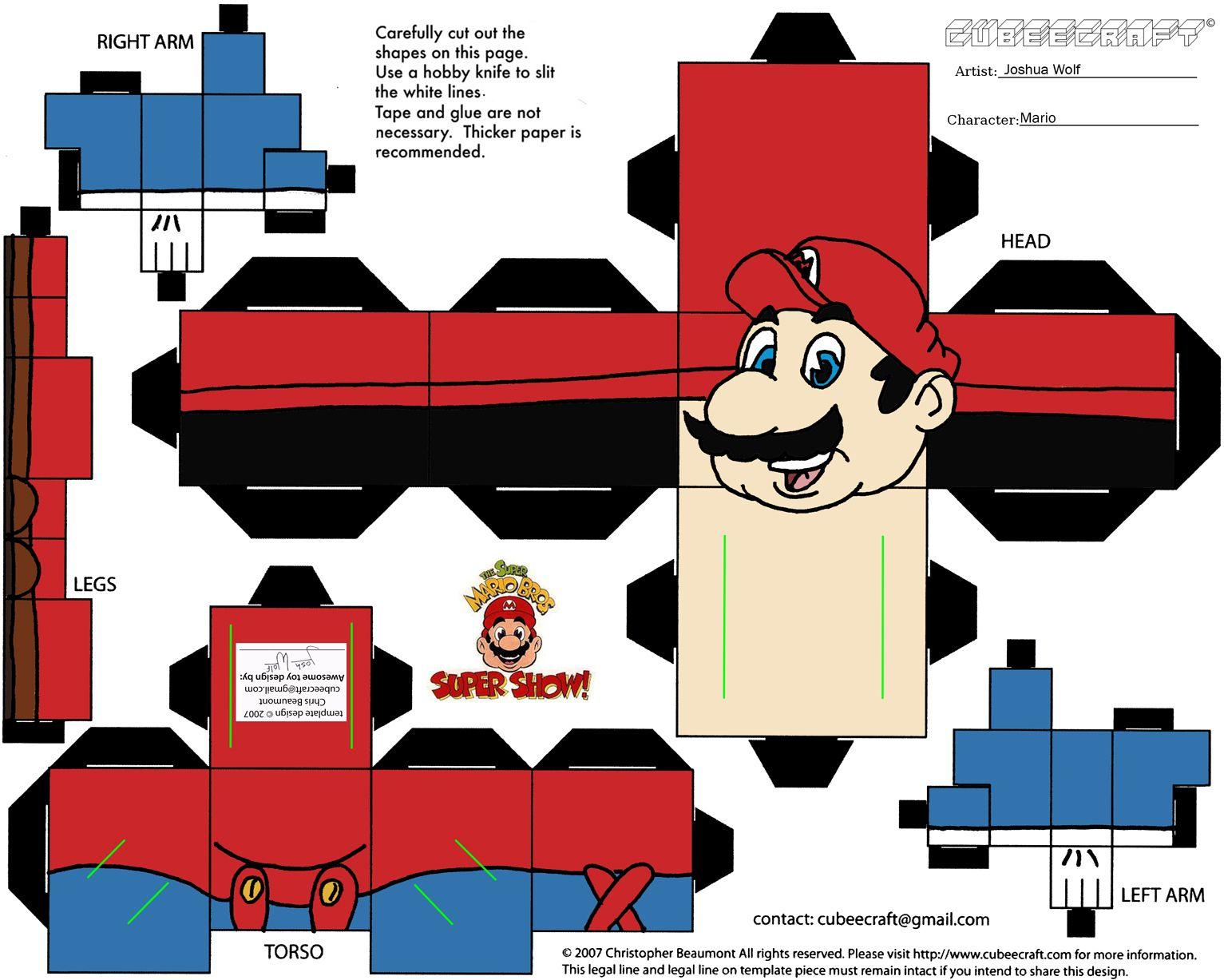 Make A Valentine Card Online Free Mario Cube Craft To Print And – Make Valentine Card Online