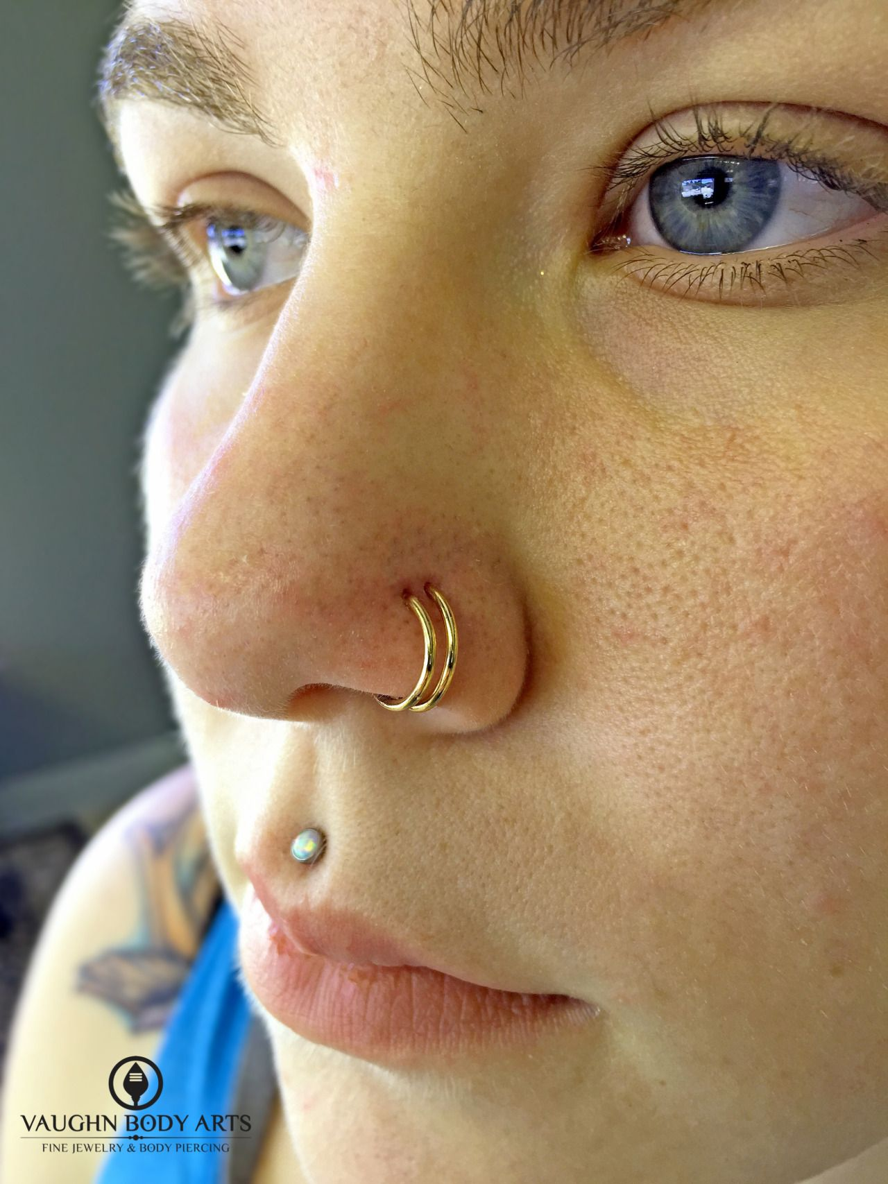 Healed up nose piercing  We did a pair of nostril piercings for Cassandra a few months ago