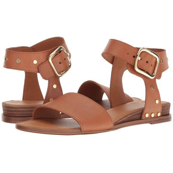Franco Sarto Park 2 (New Tan Vachetta Leather) Women's Sandals ($109) ❤