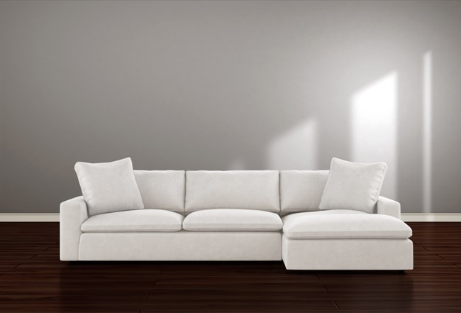 Utopia 2 Piece Sectional With Right Arm Facing Chaise Sectional Chaise Living Spaces