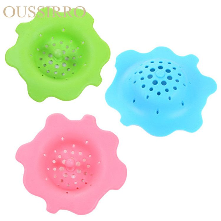 Creative Bathroom Shower Drain Cover Hair Filter Sink Strainer Insulation Pads -30