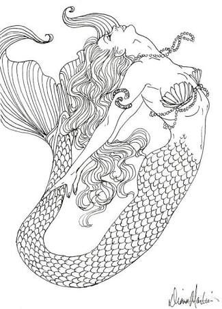 Image result for Diane S Martin mermaid coloring pages | MERMAID ...