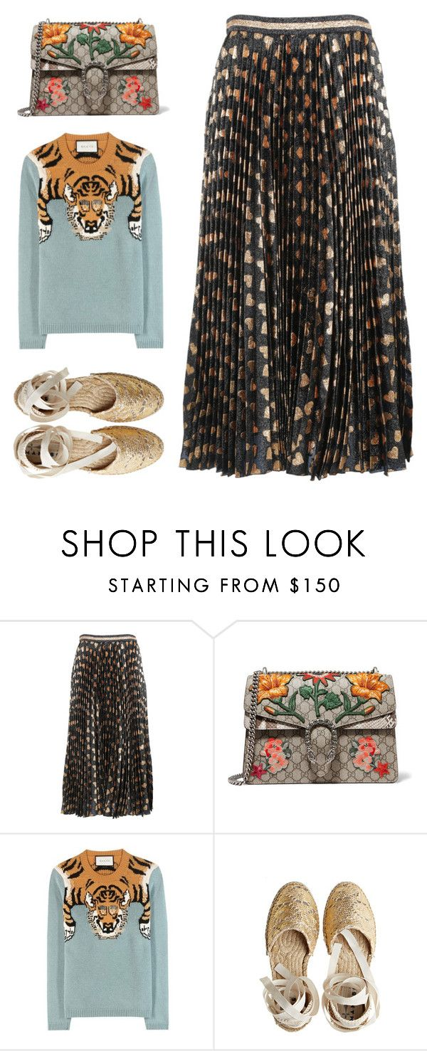 """Untitled #4009"" by michelanna on Polyvore featuring Gucci and Castañer"