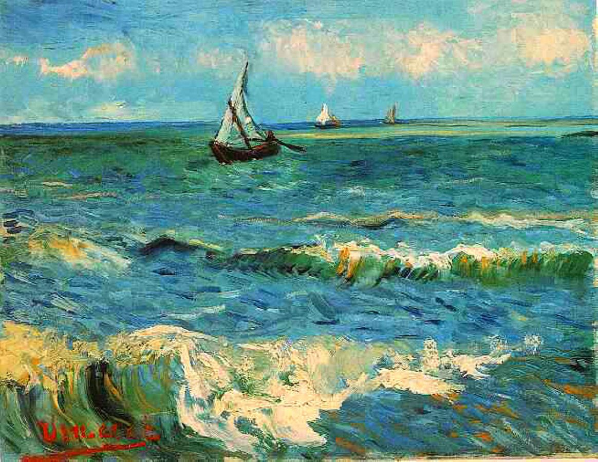 Vincent Van Gogh Seascape Near Les Saintes Maries De La Mer Art