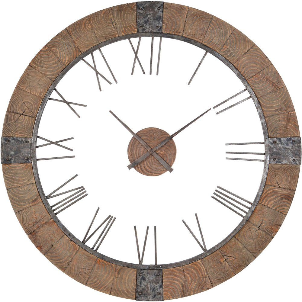 Cooper Classics Verit Clock Wall Clock Oversized Wall Clock Wood Clocks