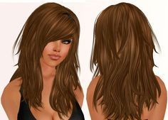 Long Layered Hair With Bangs Long Hair With Lots Of Layers And Side ...