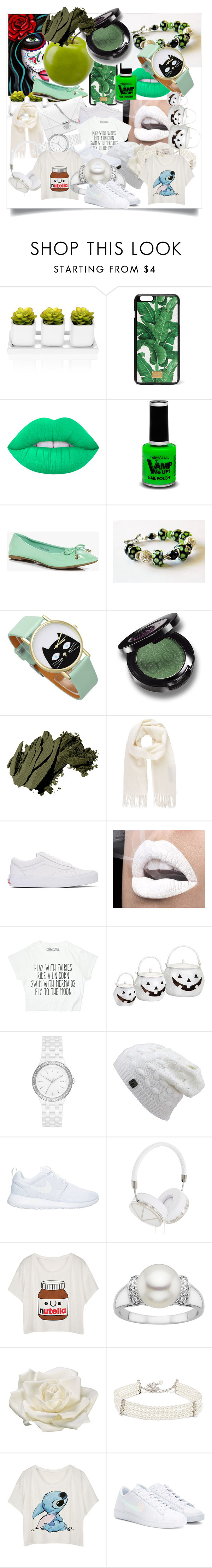 """""""Green and white"""" by simonyulya ❤ liked on Polyvore featuring beauty, Dolce&Gabbana, Lime Crime, PaintGlow, Boohoo, Bobbi Brown Cosmetics, Vivienne Westwood, Vans, DKNY and NIKE"""
