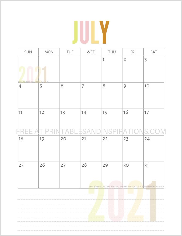 Free Printable 2021 Calendar PDF | 2021 calendar, Free ...