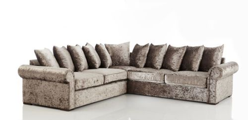 The Chelsea Vip Huge Double Corner Crushed Velvet Sofa Brand New Fast Delivery