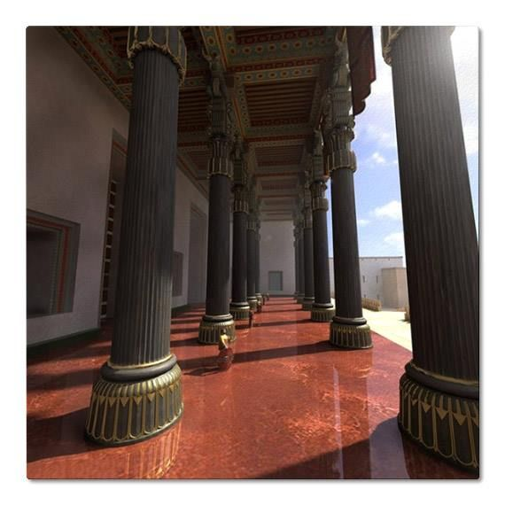 Reconstruction of Apadana Palace - The audience hall of Persepolis, the ceremonial capital of the Achaemenid Empire (ca. 550–330 BC).