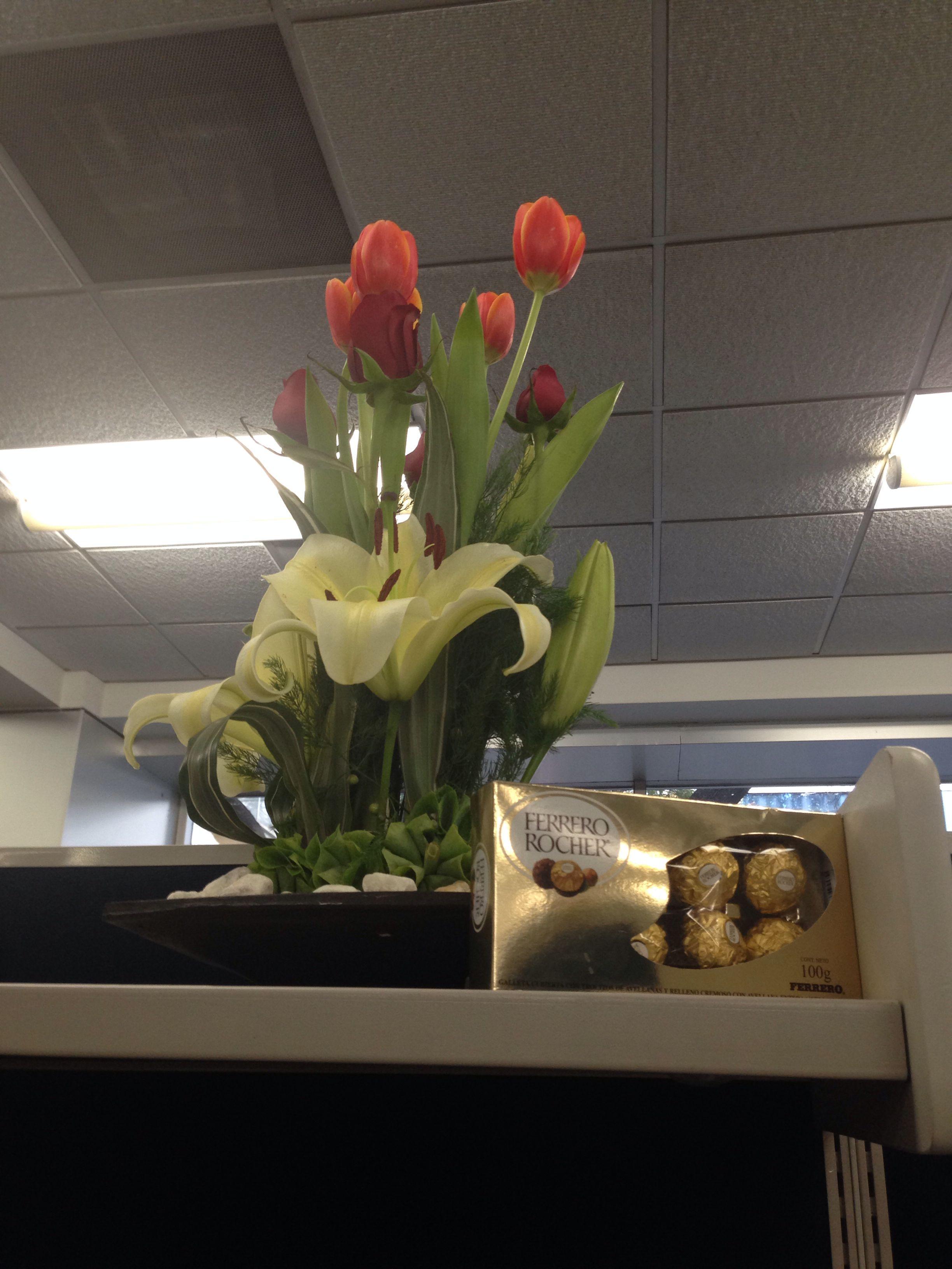 Flores en la oficina plantas flores rboles y dem s for Plantas decorativas para oficina