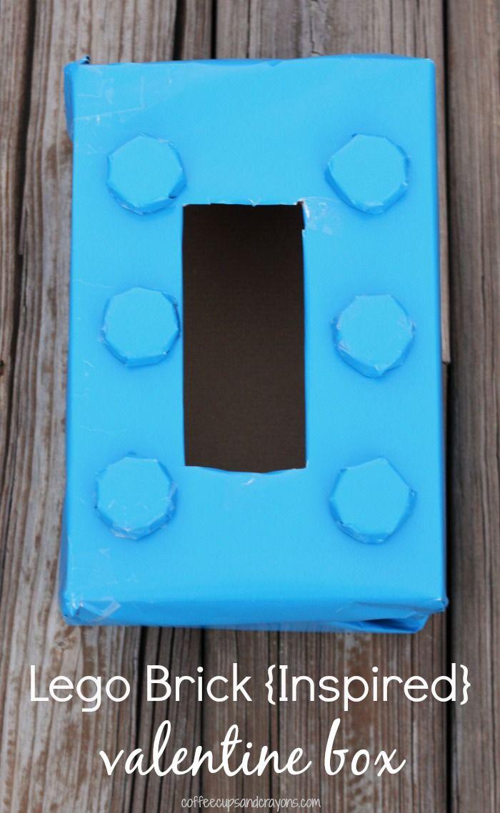 Lego Brick {Inspired} Valentine Box For Kids
