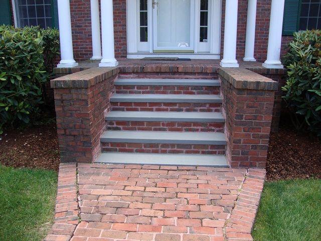 Front Yard Makeover Inspiration Brick Steps Porch Steps House Front