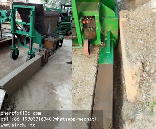 extruded road curb machine, can produce max 35mn height curb.800-1000meters per day.