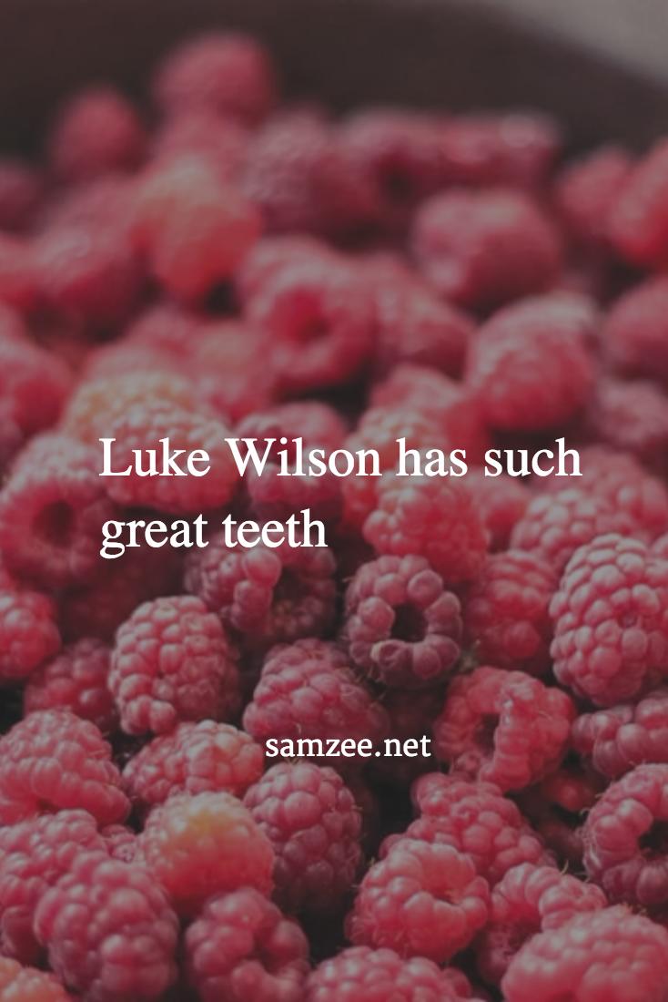 Luke Wilson has such great teeth