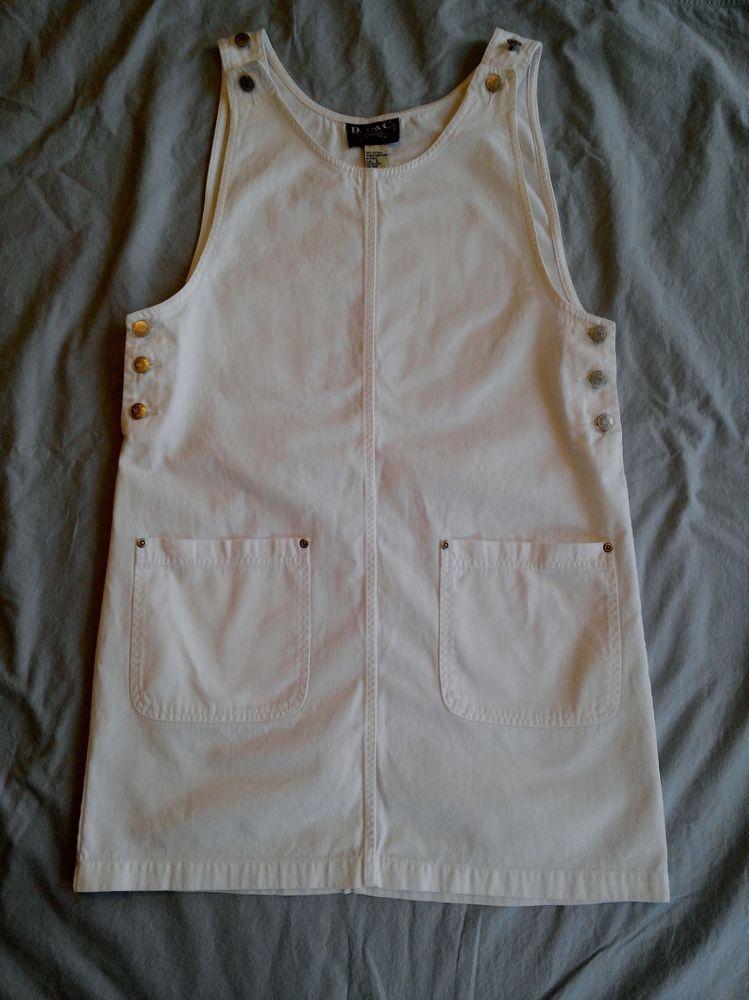 Denim & Company WHITE DENIM DRESS JUMPER SIZE SMALL #DenimCo #Jumper #Casual