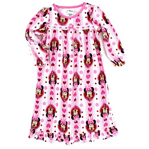 Big Kids · Layering · Minnie Mouse · Flannel · Pajamas · Minnie Mouse Girls  Flannel Granny Gown Nightgown Pajamas (2T a849101ac