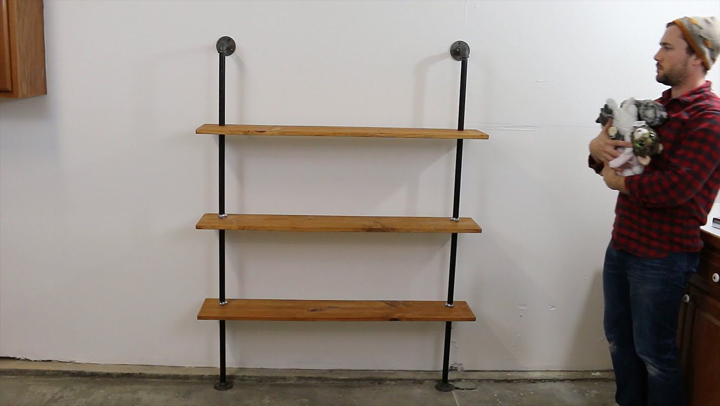 Build a DIY Industrial Pipe Shelving Unit   Wood Project ...