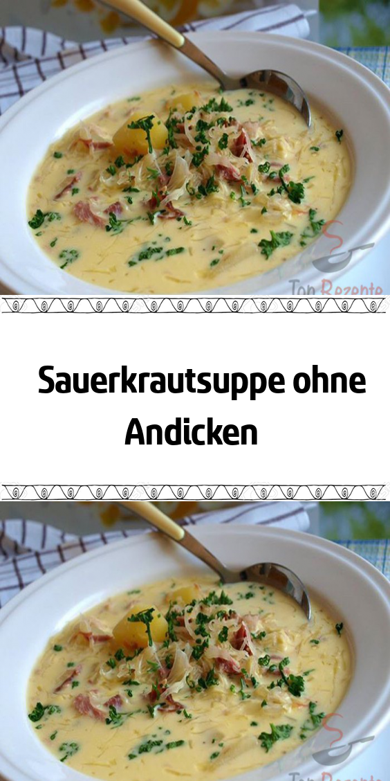Photo of Sauerkraut soup without thickening