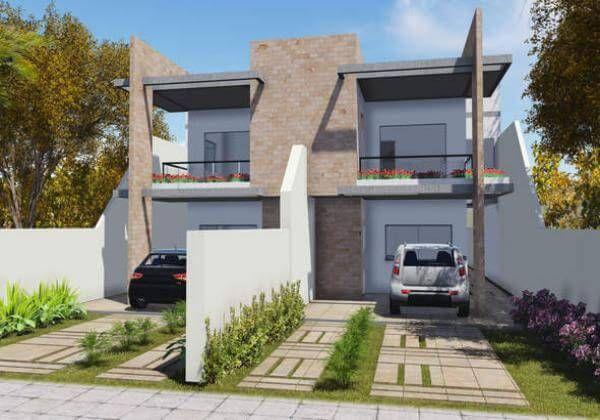 Fachadas De Casa Minimalistas De Dos Plantas Con Dos Garajes Outdoor Furniture Sets New Homes House Styles