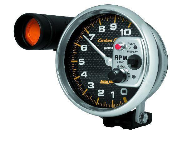 Autometer Carbon Fiber Series 5 Inch Tachometer W Shift Light Tachometer Carbon Fiber Carbon