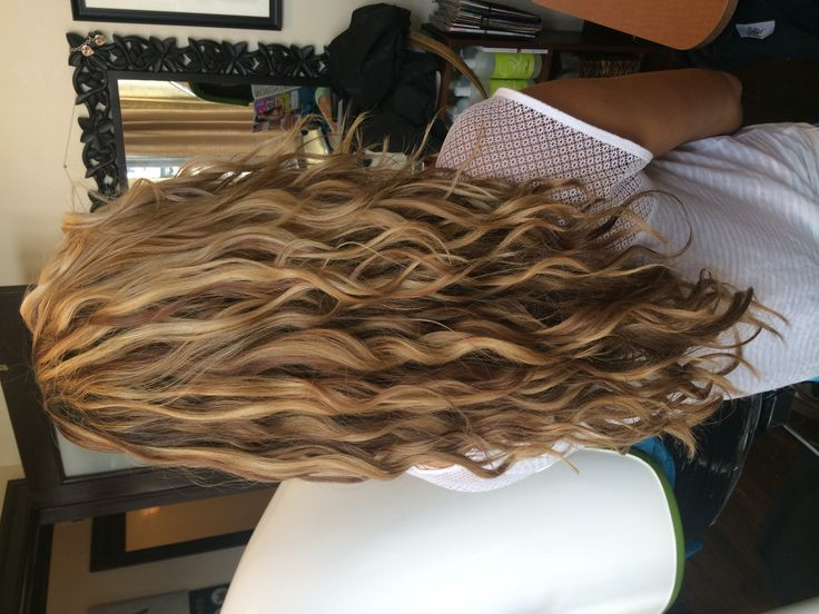 My Work Goldwell Hair Color Natural Wavy Curls Long Hair