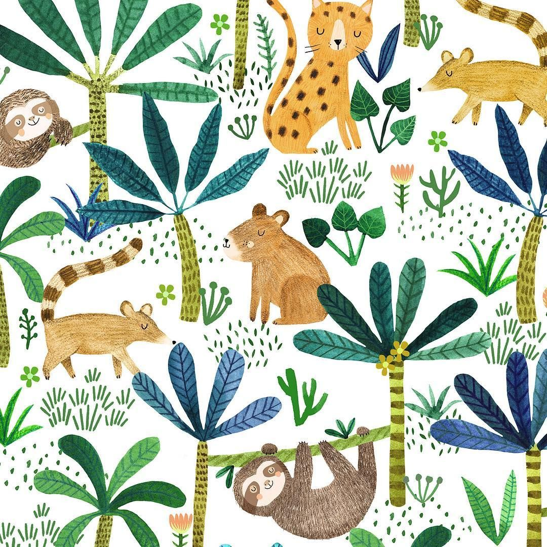 Animaux Paisible De La Jungle In