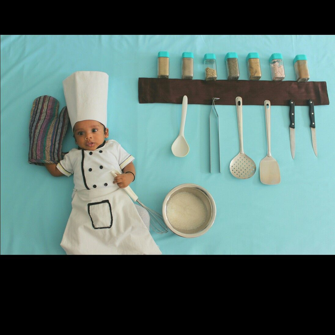 Baby chef photo shoot
