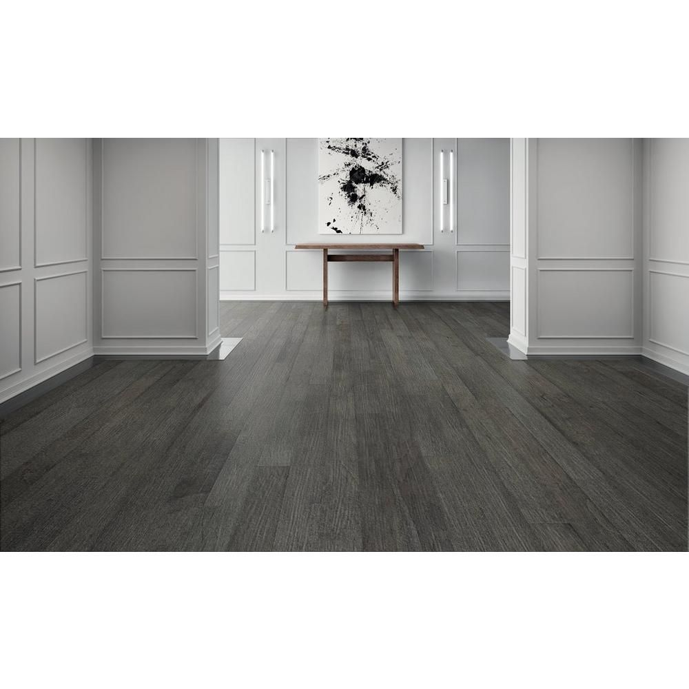 grey wood floor, Curtiba Hickory Gray Engineered Hardwood 1/2in x 6 1