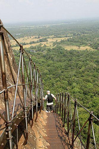 Climbing, Lion's Rock, Sigiriya, Central Province, Sri Lanka
